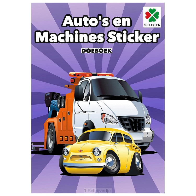 AutoÆs en Machines Sticker Doeboek