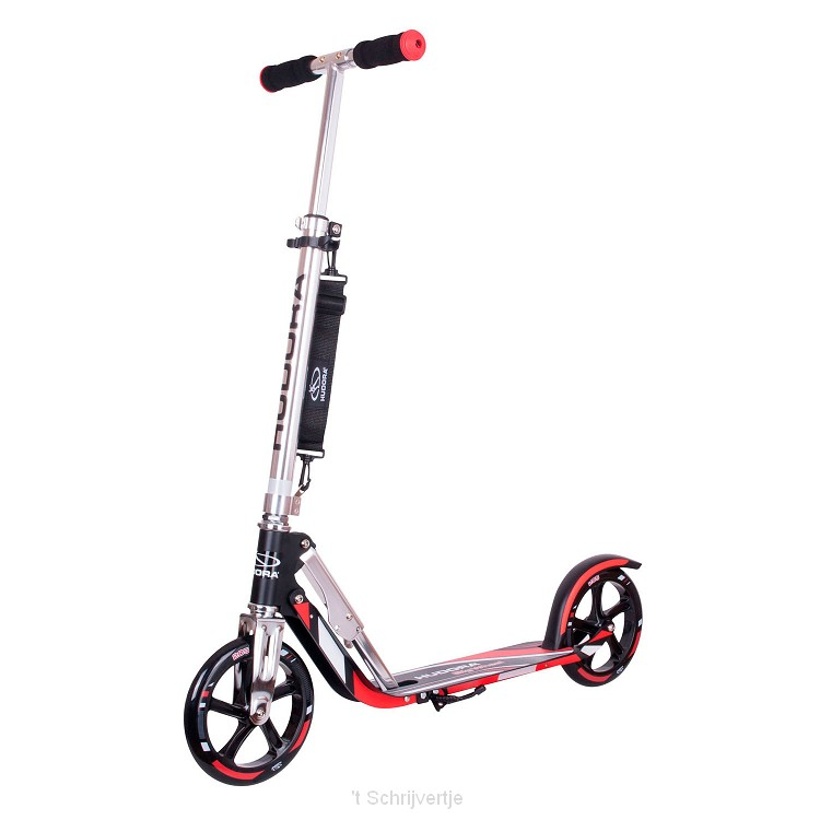 Hudora Scooter Big Wheel Step RX205 - Zwart/Rood
