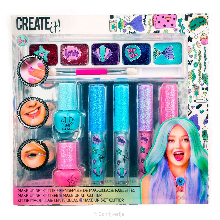 Create It! Make-up Set Glitter, 7dlg.