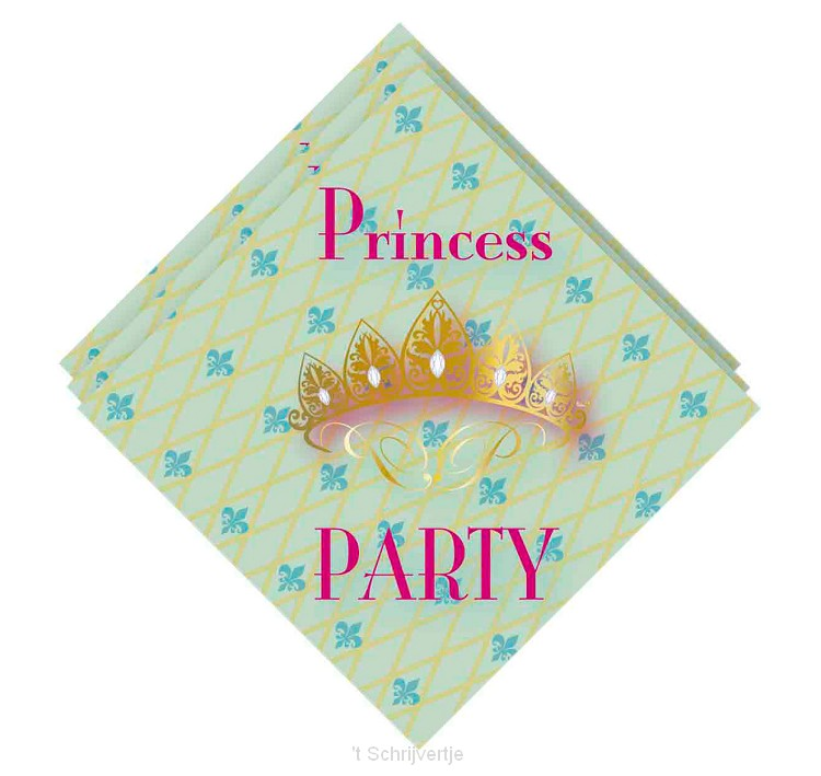Servetten Princess Party, 20st.