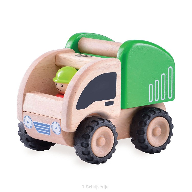 Wonderworld Houten Mini Vuilniswagen