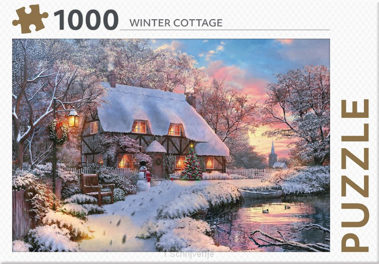 Puzzel Wintercottage 1000