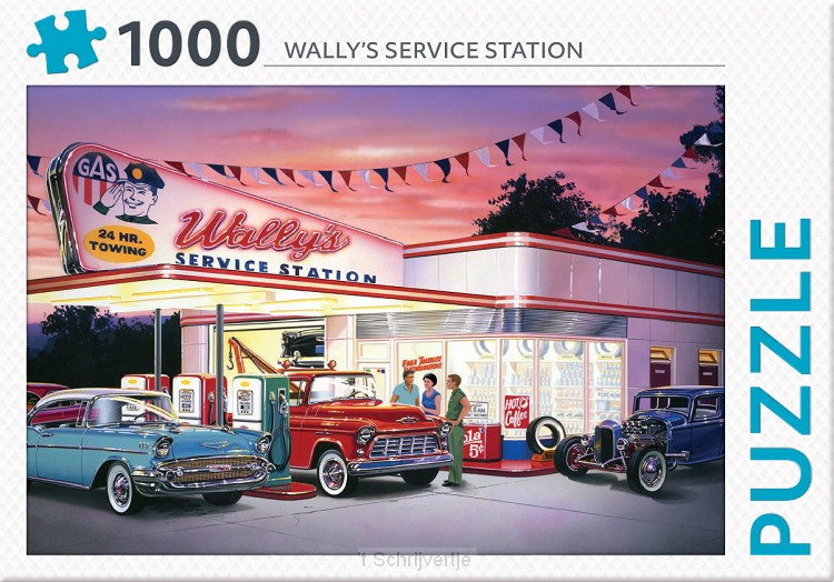 Puzzel Wally's service station 1000