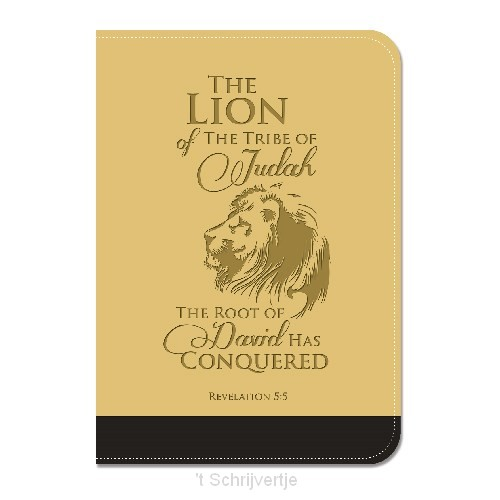 Lux leather journal lion