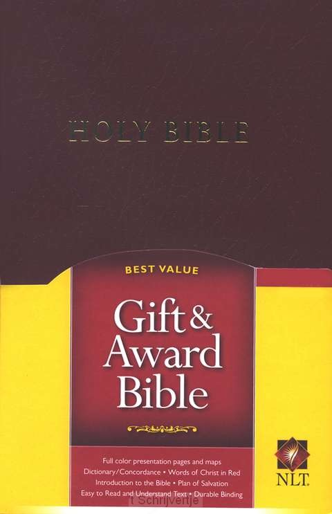 NLT gift & award bible burgundy